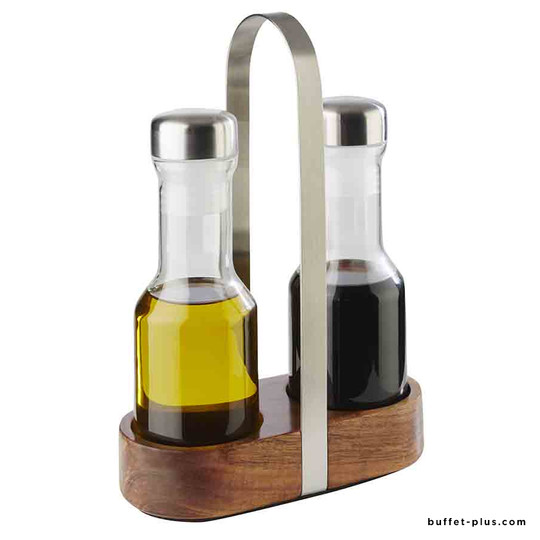 Ménagère huile et vinaigre Wood