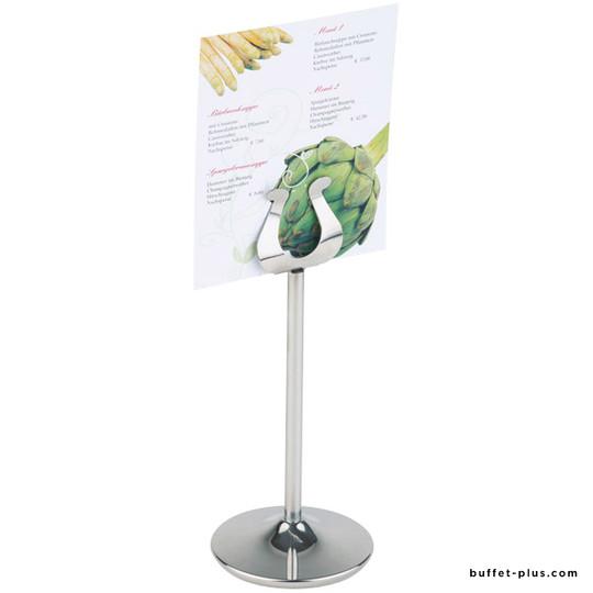 porte tiquette ou porte menu de table inox porte menu. Black Bedroom Furniture Sets. Home Design Ideas