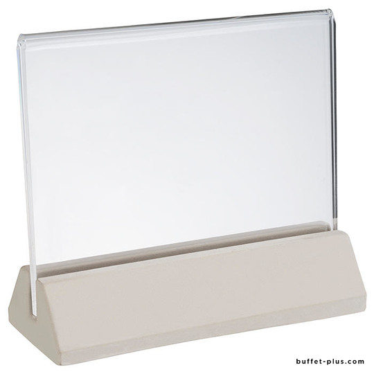 Porte carte menu en béton