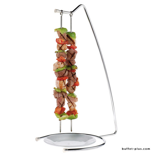 Support vertical pour brochettes