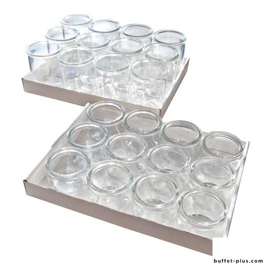 Set de 12 verrines verre Gourmet