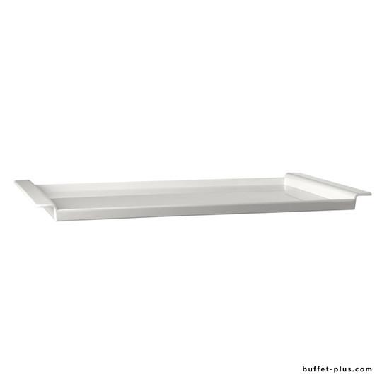 Plateau blanc avec planche bois ajourée