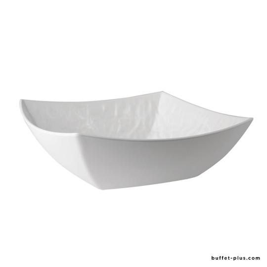Plat creux carré / saladier carré Tao