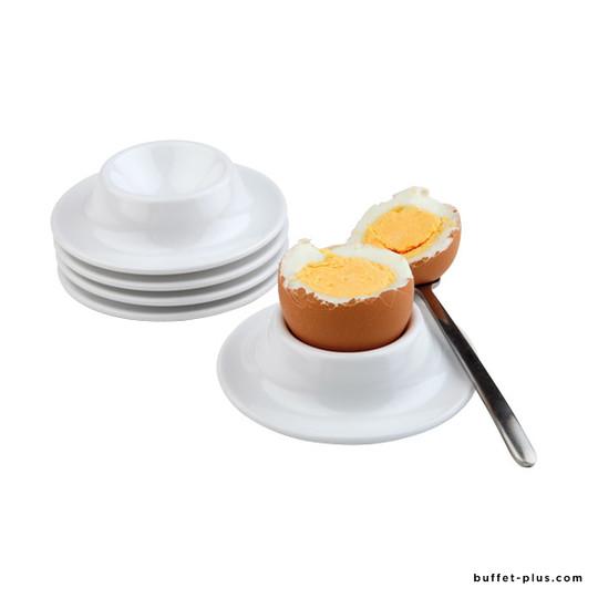 Coquetier blanc, set de 4 pièces