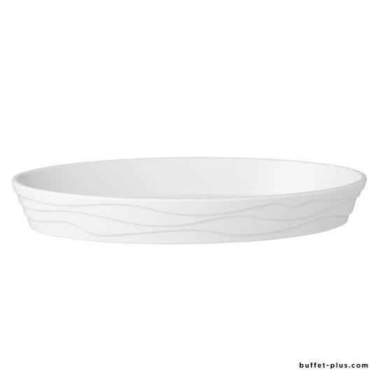 Plat ovale blanc forme vagues Classic Wave