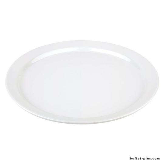 Assiette / plateau rond blanc Pure
