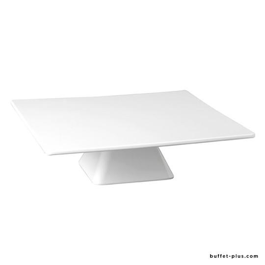 Guéridon pâtissier carré blanc
