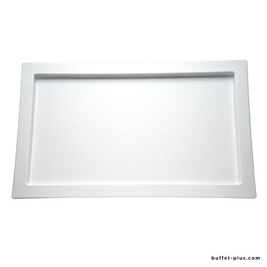 Plateau GN blanc avec rebord Frames