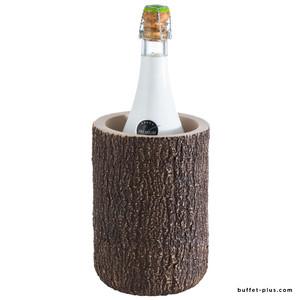 Rafraîchisseur de bouteille béton aspect noix de coco