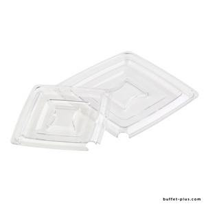 Couvercle carré transparent avec encoche Pure